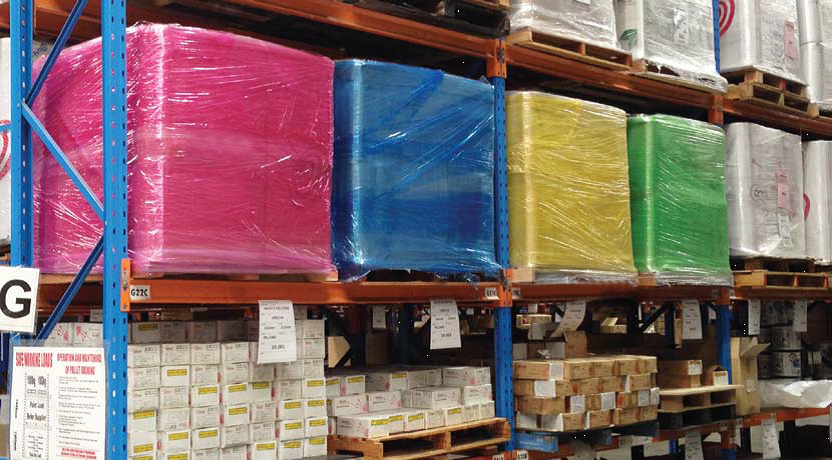 Coloured Pallet Stretch Wrap