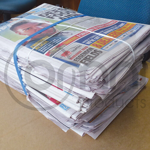 Bundled Newsprint