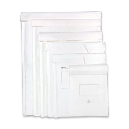 Omni White Paper Bubble Padded Mailing Bags