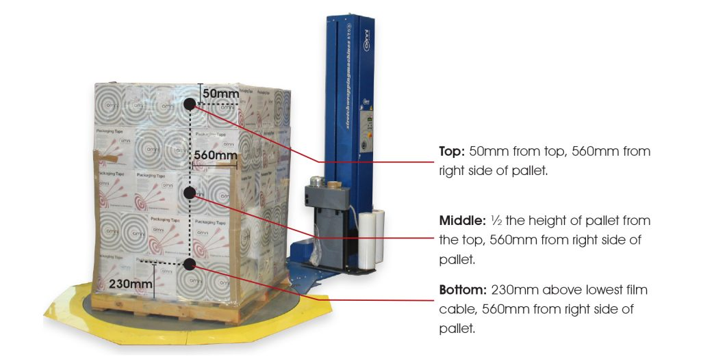 correct pallet load containment