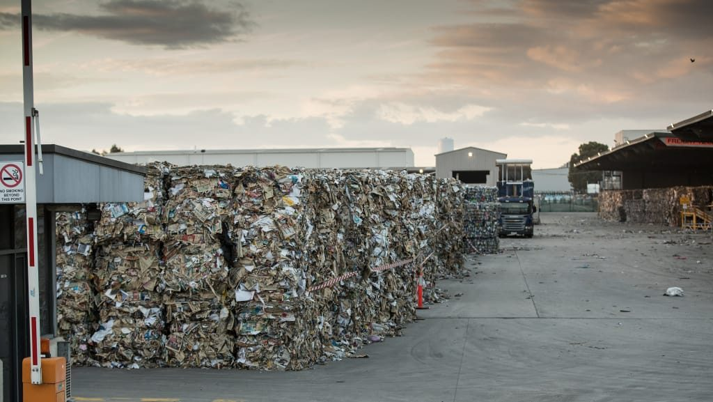 Chinas ban has caused a glut of recyclable waste in Australia