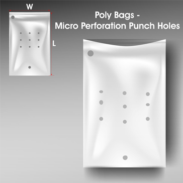 Poly Bags Micro Perforation Punch Holes
