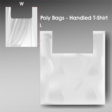 Poly Bags Handled T Shirt