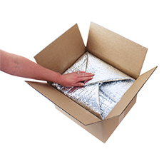 foil bubble padded carton liner 1