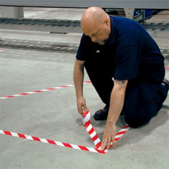 Lane Marking Floor Tape White Red 2
