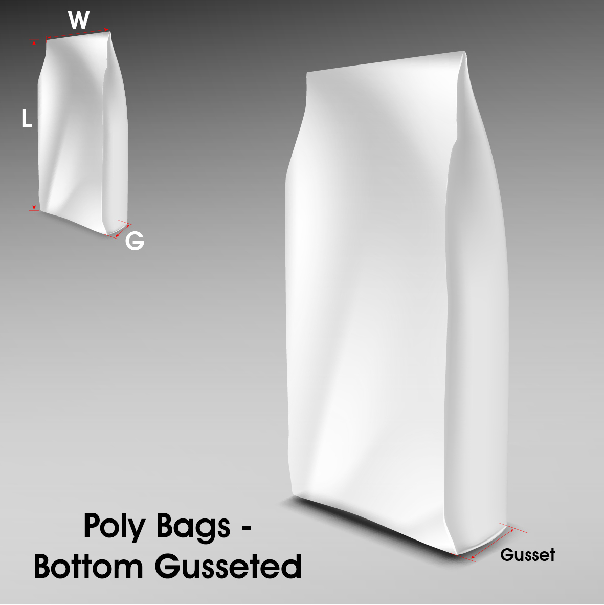 Poly Bags Bottom Gusseted