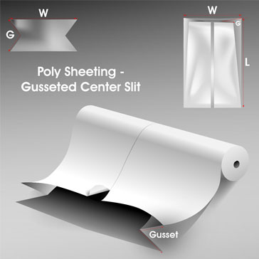 Poly Sheeting Gusseted Center Slit