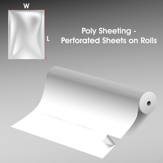 Poly Sheeting Perforated Sheets on Rolls