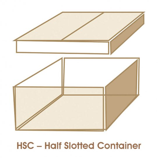 hsc half slotted container