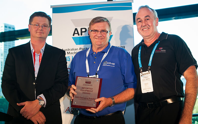 May 2015 – Omni Plana Pallet Wrapping Machine wins the APPMA award